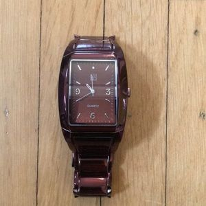 NY&C Maroon Stainless Steel Watch